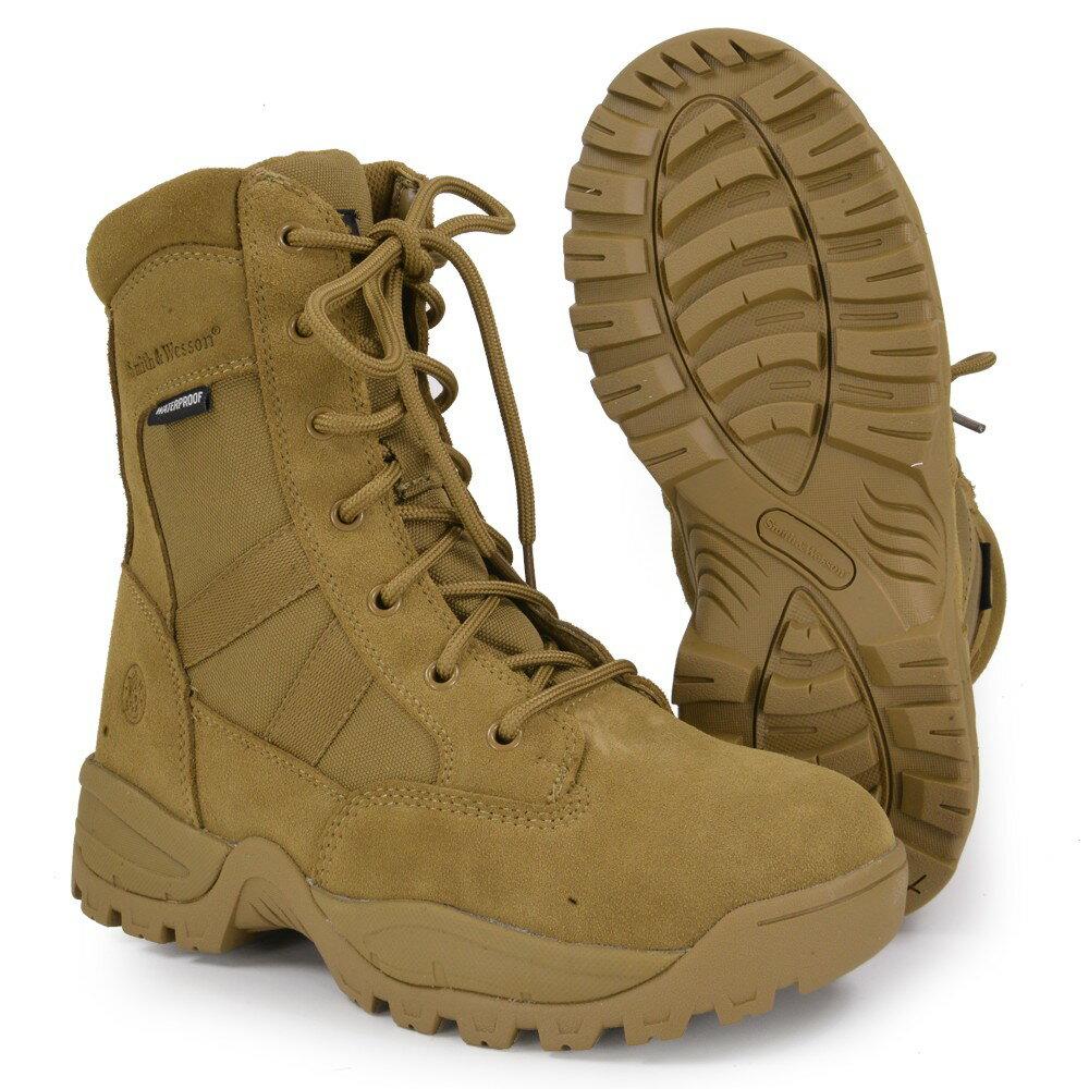 S&W タクティカルブーツ Breach Waterproof サイドジップ コヨーテ [ 7W(約25.0cm) ] Smith Wesson ブリーチ ウォータープルーフ 防水 黒 Side Zip 軽量 通気性 コンバットブーツ 軍靴 半長靴 戦闘靴 ミリタリーブーツ サバゲーブーツ画像