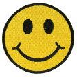 ミリタリーパッチ スマイルマーク 丸型 アイロンシート付 ミリタリーワッペン アップリケ SMILE Smiley