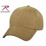 Rothco キャップ ソリッド コヨーテブラウン 8177 | ロスコ ベースボールキャップ 野球帽 メンズ ワークキャップ ミリタリーハット ミリタリーキャップ OD