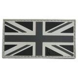 MAXPEDITION パッチ イギリス国旗 ベルクロ PVC製 SWATカラー マックスペディション UK Flag ユニオンジャック ユニオンフラッグ ユナイテッドキングダム ミリタリーパッチ ミリタリーワッペン アップリケ 記章 ラバー
