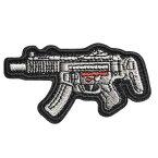 ミリタリーワッペン MP5SD6 ライフル 刺繍 ベルクロ SDシリーズ アサルトライフル ミリタリーパッチ アップリケ 記章 徽章 襟章 肩章 胸章 階級章