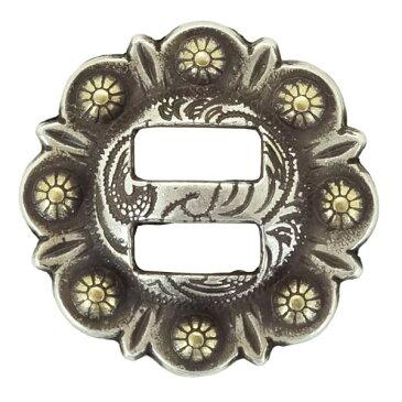 ウェスタン スロットコンチョ スワール [ ゴールド / 22mm_(7/8インチ) ] 23mm (78) | ハンドメイド 長財布 ロングウォレット 革製品 レザークラフト 材料 資材 パーツ