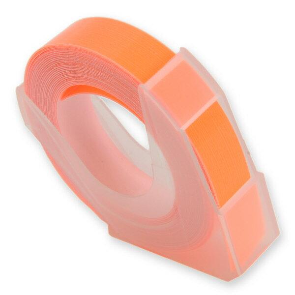 エンボステープ DYMO用 9mmx3m ダイモ [ 蛍光オレンジ ] RM900OR リフィルテープ レイチェル ダイモテープ ダイモ用テープ エンボスライター用テープ プラスチックテープ 凹凸テープ