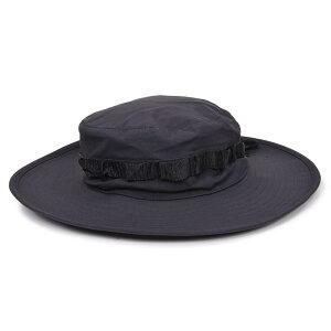 TRU-SPEC ブーニーハット H2Oプルーフ [ ブラック ] トゥルースペック 帽子 オールサイズ あご紐 ミリタリー系 キャンプ 登山 アウトドア 日焼け防止 ブッシュハット ジャングルハット サファリハット 迷彩ハット メンズ