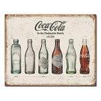 ブリキ看板 コカコーラ ボトル エボリューション | ブリキカンバン ティンサイン サインボード インテリア TINサイン アメリカン雑貨