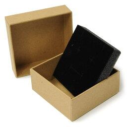 ギフトボックス 貼り箱 8×8×3.5cm アクセサリーケース [ ブラウン / 10個セット ] プレゼントボックス ジュエリーBOX 厚紙 スポンジ付き ラッピング パッケージ 無地 収納
