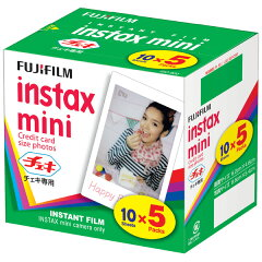 FUJIFILM チェキ用フィルム 5本パック(50枚) instax mini 5PK