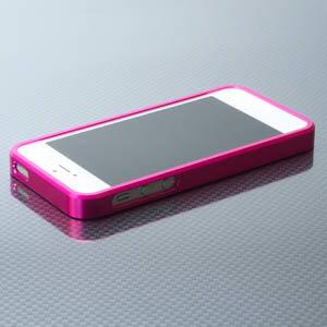 【在庫処分品!ポスト投函】GAIS ガイズ ハイブリットメタルバンパーSEALED iPh5-X001(P)ピンク