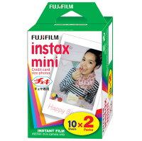 【送料無料】FUJIFILMチェキ用フィルム2本パックinstaxmini2PK(20枚)x15個(300枚)