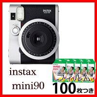 【9月20日新発売】フジフイルムチェキinstaxmini90ネオクラシックチェキフィルム100枚付