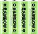 電池企画販売 BPS RAINBOW 単3形充電池 ニッケル水素充電池(2100mAh)BPS-3NIJI 4Pライム