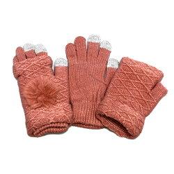 ■2wayスマホ手袋■【送料無料】レディースフリーサイズ防寒保温小物手袋洗濯可能スマホ対応取り外し可能アームウォーマー
