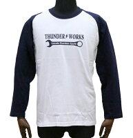 エアフィッシュ【AirFish】THUNDERWORKSロングTシャツ【ホワイト/ネイビー】