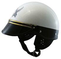 コミネ(KOMINE)FUJI300AヘルメットUSポリス(ゴールドモール)(装飾用バイザー付き)(01-151、01-155GD)