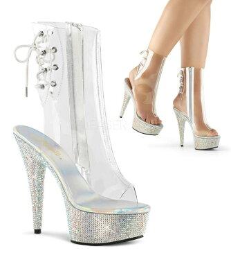 取寄せ靴 送料無料 PLEASER プリーザー ブーツ 15cmヒール 大きいサイズあり イベント セクシー サンタ 女装 パーティ- クリスマス コスプレ 衣装 シューズ