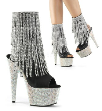 取寄せ靴 送料無料 PLEASER プリーザー ブーツ 18cmヒール 大きいサイズあり イベント セクシー サンタ 女装 パーティ- クリスマス コスプレ 衣装 シューズ