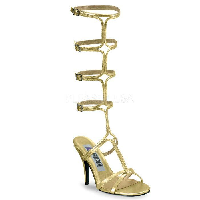 取寄せ靴  PLEASER プリーザー サンダル 7.5cmヒール 大きいサイズあり イベント セクシー サンタ 女装 パーティ- クリスマス コスプレ 衣装 シューズ