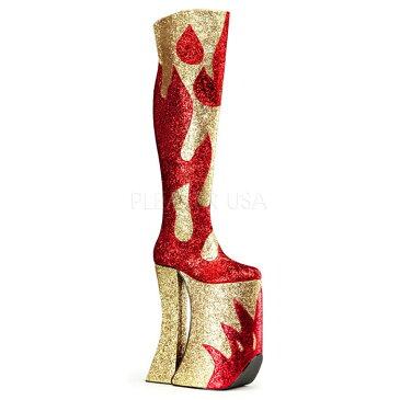 取寄せ靴 送料無料 PLEASER プリーザー ブーツ 28cmヒール 大きいサイズあり イベント セクシー サンタ 女装 パーティ- クリスマス コスプレ 衣装 シューズ