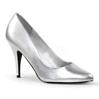 即納靴新品人気の定番ポインテッドトゥハイヒールパンプス10cmピンヒール銀シルバーつや消しPleaserプリーザー大きいサイズあり行事式女装男装パーティ-LGBTファッション