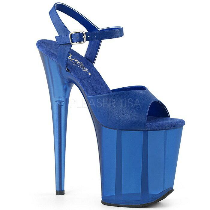 取寄せ靴  PLEASER プリーザー サンダル 20.5cmヒール 大きいサイズあり イベント セクシー サンタ 女装 パーティ- クリスマス コスプレ 衣装 シューズ