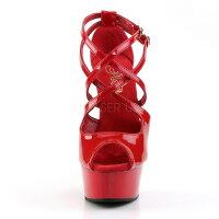 取寄せ靴新品衣装靴クロスストラップ2連ベルト厚底サンダル15cmピンヒール赤レッドエナメルPleaserプリーザー大きいサイズあり行事式女装男装パーティ-LGBTファッション