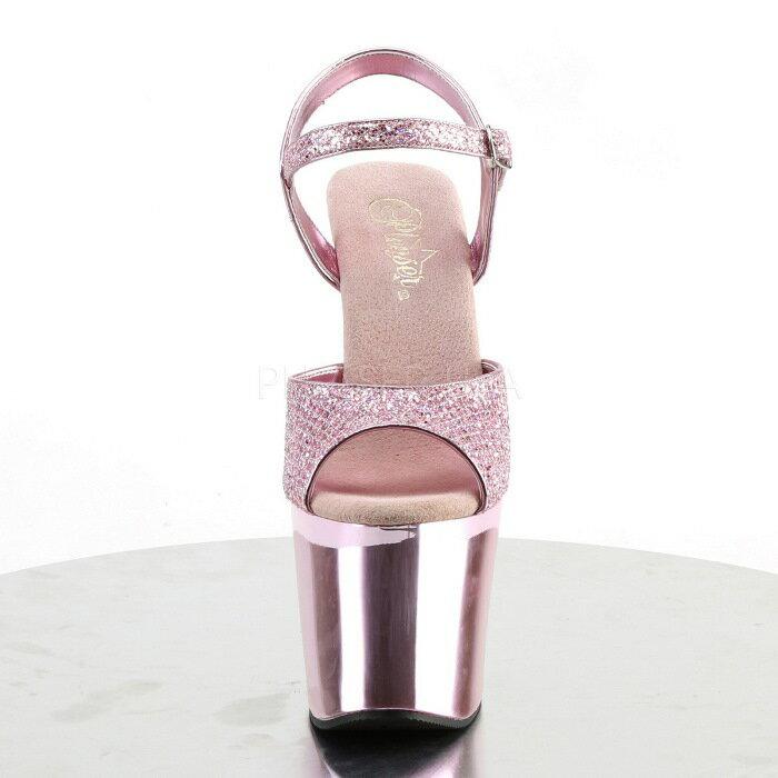 取寄せ靴  PLEASER プリーザー サンダル 18cmヒール 大きいサイズあり イベント セクシー サンタ 女装 パーティ- クリスマス コスプレ 衣装 シューズ