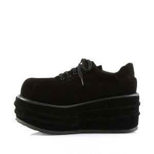取寄せ靴新品厚底シューズ厚底9cm黒ブラックビーガンスエードDemoniaデモニア大きいサイズあり行事式女装男装パーティ-LGBTファッション02P03Dec16