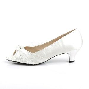 取寄せ靴新品オープントゥローヒールパンプス5cmヒールアイボリーサテン大きいサイズあり行事式女装男装パーティ-LGBTファッション