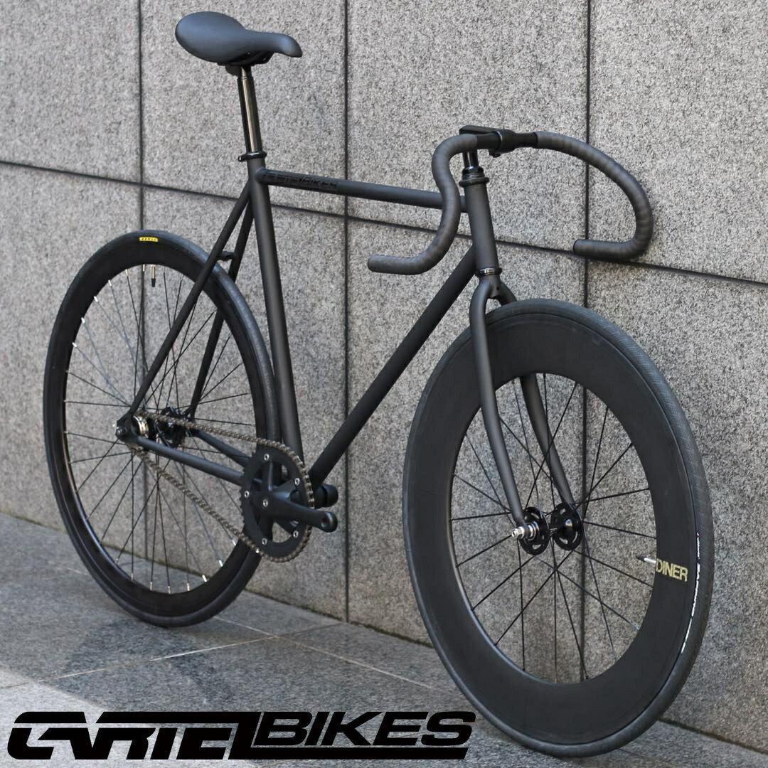 自転車・サイクリング, ピストバイク  CARTEL BIKES AVENUE MAT BLACK DINER FRONT 88mm CARBON WHEEL CUSTOM