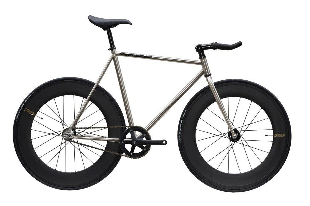 自転車・サイクリング, ピストバイク  CARTEL BIKES AVENUE LO CHROME DINER FRONTREAR 88mm CARBON WHEEL CUSTOM