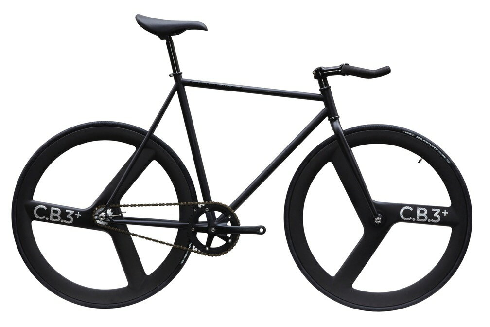 自転車・サイクリング, ピストバイク  CARTEL BIKES AVENUE LO MAT BLACK FRONTREAR C.B.3 PLUS CARBON WHEEL CUSTOM