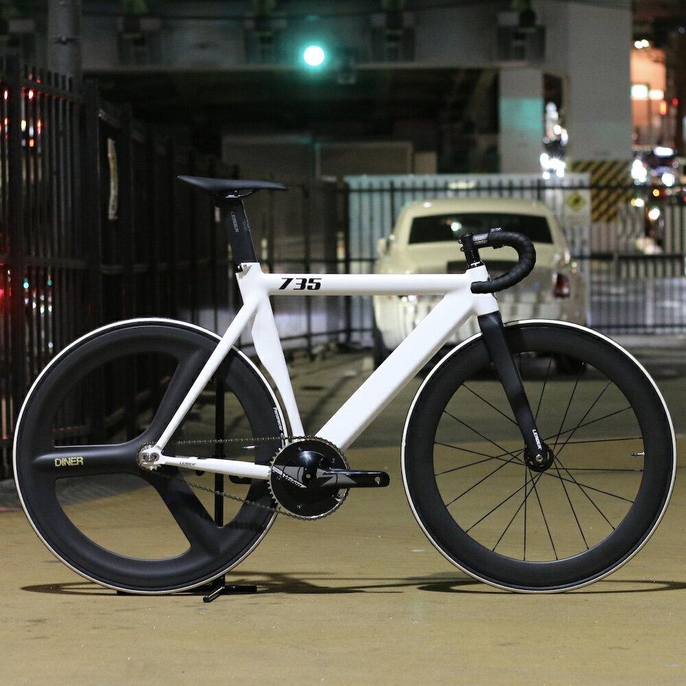 自転車・サイクリング, ピストバイク  LEADER BIKES 735TR CUSTOM BIKE WHITE