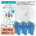 【送料無料】 衛生用品特別セット(アルコールハンドジェル 12包×1袋 KN95