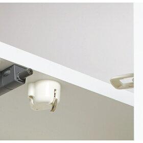 LEDライト付きコレクションシェルフPCデスク幅78cm