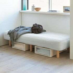 【幅85cm・長さ170cm】幅と長さが選べる20サイズ脚付きマットレスベッド