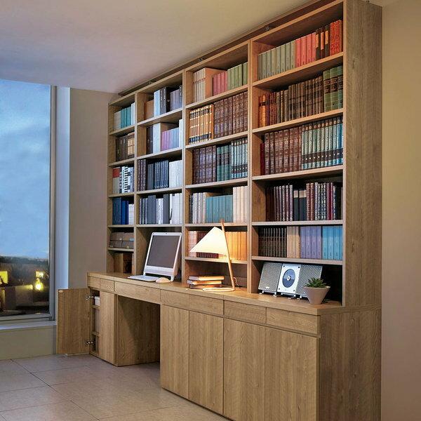 ホームライブラリーシリーズ デスク 幅80cm 突っ張りタイプ:ディノス家具
