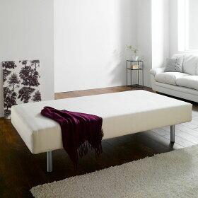 ワンルームにもおすすめのマットレスベッド。ボックスシーツを掛けてご使用いただけます。