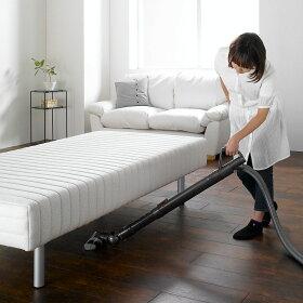 ベッド下が25cmあるので掃除機が入り下に埃がたまりにくい構造です。