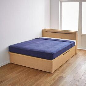 シングル・横開きタイプ(棚照明付き跳ね上げベッド)