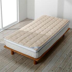 へたったマットレスの上に寝心地調整マットとしてご使用いただくこともできます。※サイズはご確認ください。