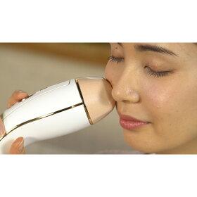 付属のフェイシャルアタッチメントに替えると、美顔器として美肌ケアもできます。