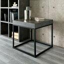 家具 収納 テーブル 机 サイドテーブル ナイトテーブル Petra(ペトラ) コンクリート調サイドテーブル H88609