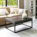 家具 収納 テーブル 机 ローテーブル 座卓 Petra(ペトラ) コンクリート調コーヒーテーブル H88610