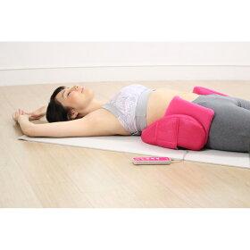寝ているだけで「伸ばす」&「ひねる」ストレッチ!背面のエアーバッグで、お腹周りを伸ばす&くびれも目指せちゃう。