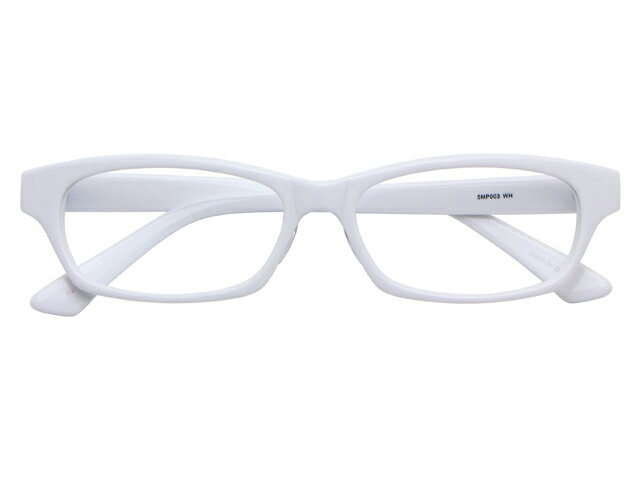 メガネ 度付き/度なし/伊達メガネ セルフレーム(プラスチック) ウェリントン ウエリントン ホワイト 白 メガネセット 5MP003-WH10P03Dec16