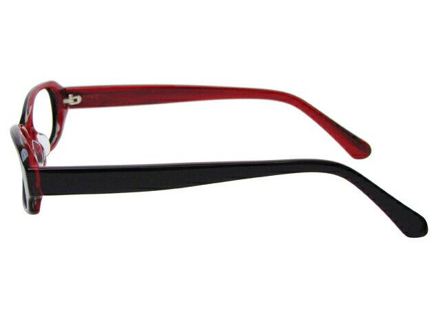 メガネ 度付き/度なし/伊達メガネ セルフレーム(プラスチック) オーバル スクエア ブラック 黒 黒ぶち メガネセット 5UP002-BKX10P03Dec16