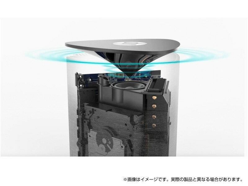 Corei716GBメモリ512GBSSDPCIe規格+2TBHDDHPPavilionWave600(型番:7XD07AA-AAAA)デスクトップパソコンOffice付き新品省スペースAmazonAlexa搭載360度音響布のパソコン