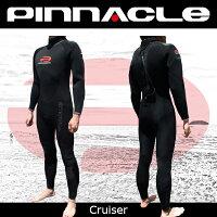 [男性用]PINNACLE[ピナクル]7×5mmウェットスーツ足首ファスナー付CRUISER[クルーザー]ウエットスーツ[フルスーツ]Pinnacleaquatics【RCP】