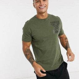 レイバーン Raeburn オリーブのレイバーンオーガニックコットンパラシュートTシャツ トップス メンズ 男性 インポートブランド 小さいサイズから大きいサイズまで