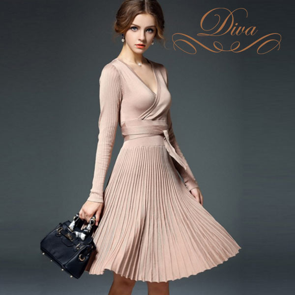 Diva Zappa Knitted Dress : Diva closet rakuten global market great mid length